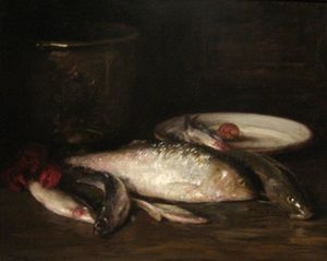 William Merritt Chase - Still-Life with Fish