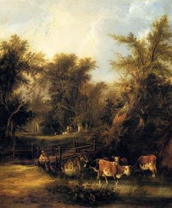 William Shayer Senior - Cattle By A Stream