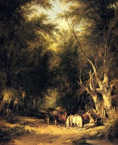 William Shayer Senior - In The New Forest