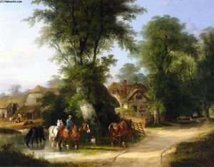 William Shayer Senior - The Watering Place