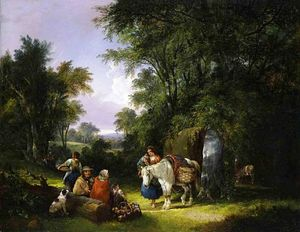 William Shayer Senior - The Midday Rest