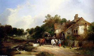 William Shayer Senior - The Road Side Inn, Somerset