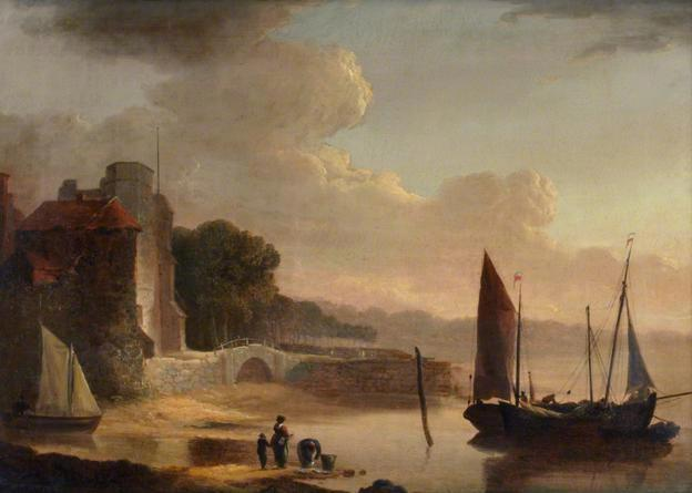 Mouth of the Old Canal, 1842 by William Shayer Senior (1788-1879, United Kingdom) | Painting Copy | WahooArt.com