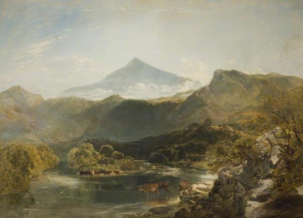 Ben Nevis and Mountain Stream, 1855 by William Shayer Senior (1788-1879, United Kingdom) | Oil Painting | WahooArt.com