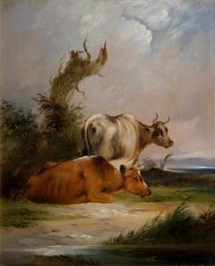 William Shayer Senior - Cows, White Cow Standing