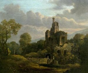 William Shayer Senior - Landscape with a Ruined Castle