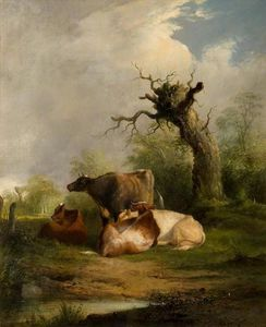 William Shayer Senior - Landscape with Cattle