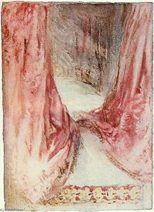 William Turner - A bed, drapery study