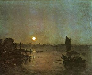 William Turner - Moonlight, A Study at Millbank