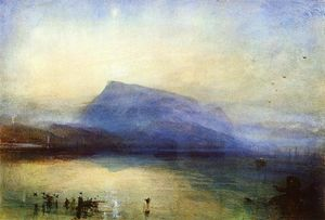William Turner - The Blue Rigi Lake of Lucerne Sunrise