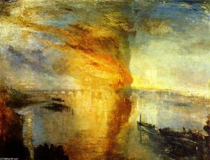 William Turner - The Burning of the Houses of Parliament