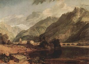 William Turner - Bonneville, Savoy with Mont Blanc