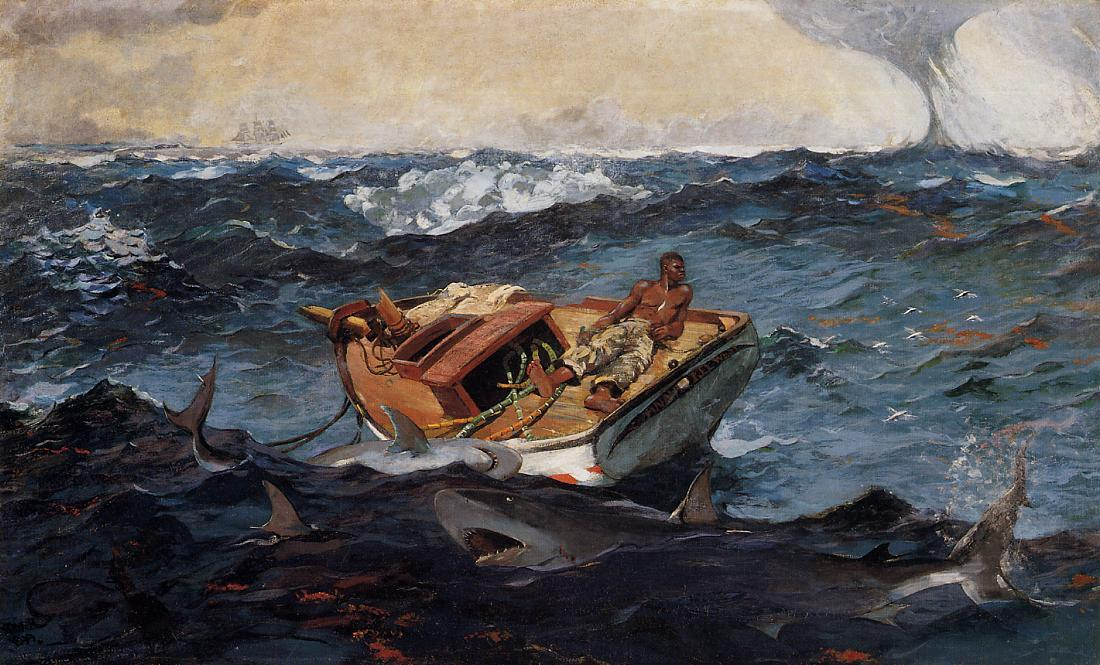 The Gulf Stream, 1906 by Winslow Homer (1836-1910, United States)