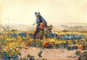 Winslow Homer - For to be a farmer-s boy