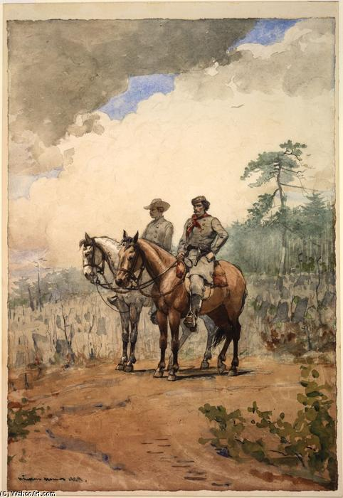 Two Scouts, 1887 by Winslow Homer (1836-1910, United States) | Paintings Reproductions Winslow Homer | WahooArt.com