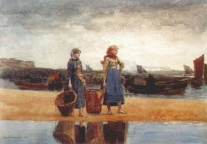 Winslow Homer - Two Girls on the Beach, Tynemouth