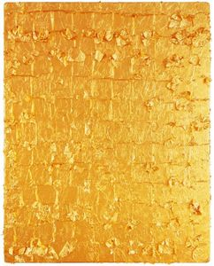 Yves Klein - Gold Leaf on Panel
