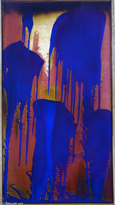 Yves Klein - Untitled Fire-Color Painting