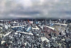 Yves Tanguy - Multiplicatiion of the Arcs - (paintings reproductions)