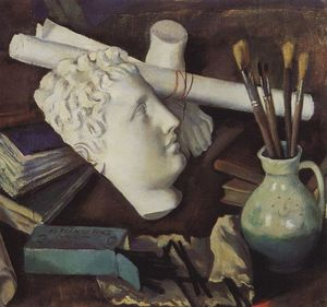 Zinaida Serebriakova - Still Life with Attributes of the Arts