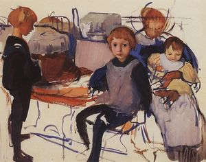 Zinaida Serebriakova - In the nursery. Neskuchnoye