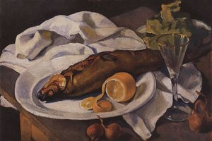 Zinaida Serebriakova - Clams and Lemon