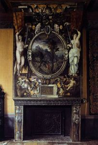 Order Poster On Canvas Chimney breast, 1552 by Niccolò Dell' Abbate (1512-1571, Italy) | WahooArt.com | Order Fine Art Print Chimney breast, 1552 by Niccolò Dell' Abbate (1512-1571, Italy) | WahooArt.com