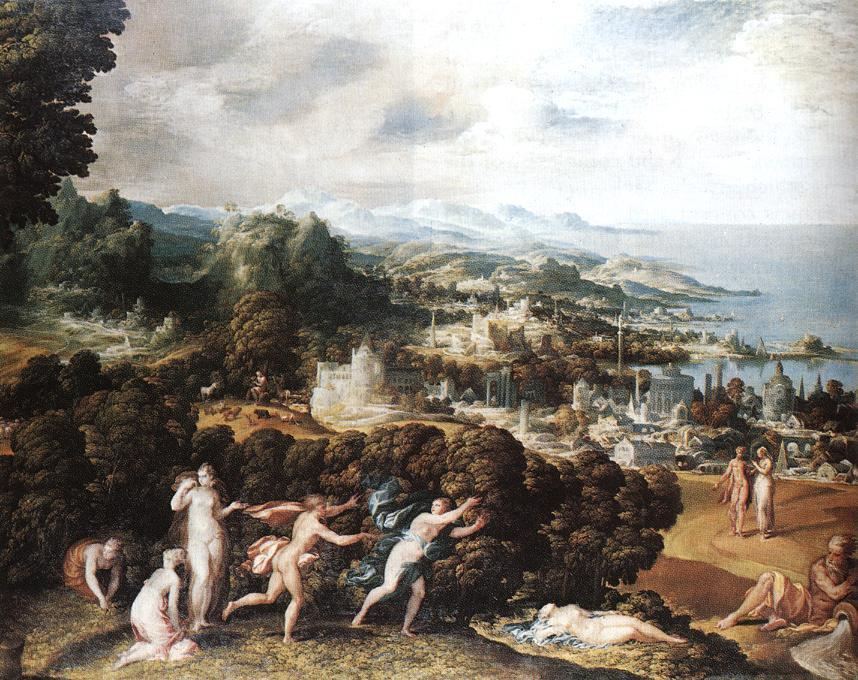Order Painting Copy : Orpheus and Eurydice by Niccolò Dell' Abbate (1512-1571, Italy) | WahooArt.com