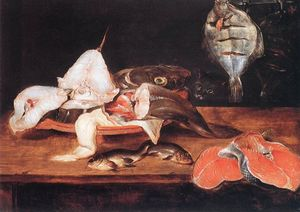 Alexander Adriaenssen - Still-Life with Fish