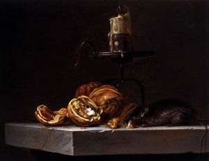 Willem Van Aelst - Still-Life with Mouse and Candle