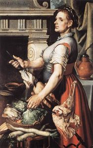 Pieter Aertsen - Cook in front of the Stove