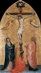 Fra Angelico - Crucifixion with the Virgin, John the Evangelist, and Mary Magdelene