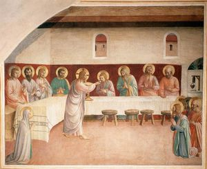 Fra Angelico - Institution of the Eucharist (Cell 35)