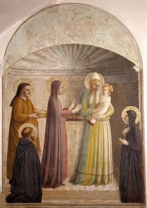 Fra Angelico - Presentation of Jesus in the Temple (Cell 10)