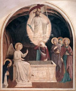Fra Angelico - Resurrection of Christ and Women at the Tomb (Cell 8)