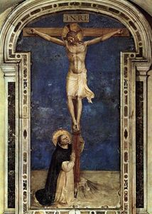 Fra Angelico - Saint Dominic Adoring the Crucifixion