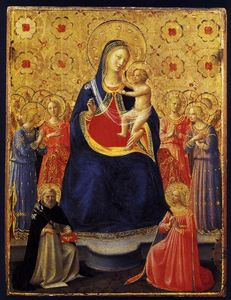 Fra Angelico - Virgin and Child with Sts Dominic and Catherine of Alexandria