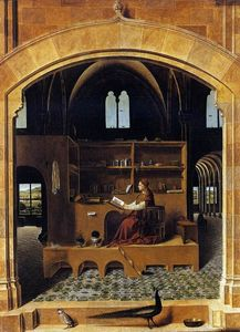Antonello Di Giovanni Di Antonio (Antonello Da Messina) - St Jerome in his Study