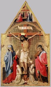 Biagio D'antonio Da Firenze - Crucifixion with Mary and St John the Evangelist