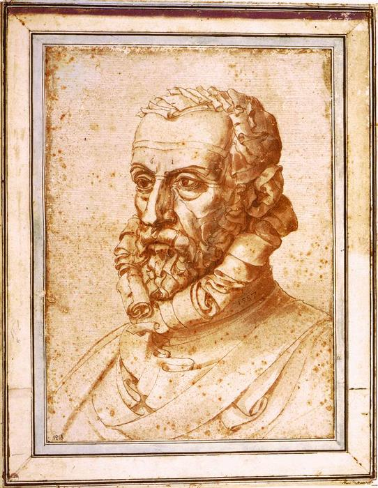 Self-Portrait on Paper, 1587 by Giuseppe Arcimboldo (1527-1593, Italy) | Art Reproductions Giuseppe Arcimboldo | WahooArt.com