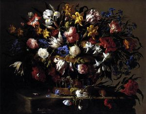 Juan De Arellano - Basket of Flowers