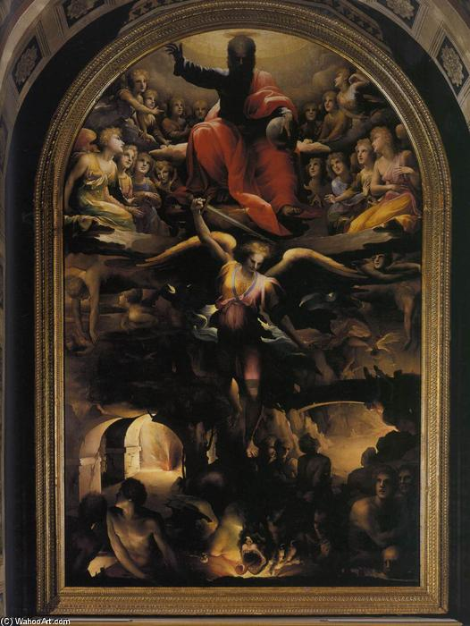 Fall of the Rebel Angels, 1528 by Domenico Di Pace Beccafumi (1486-1551, Italy) | Painting Copy | WahooArt.com