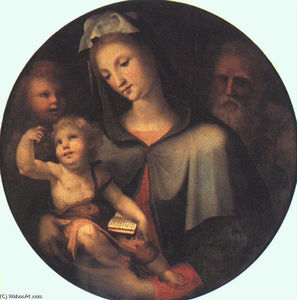 Domenico Di Pace Beccafumi - The Holy Family with Young Saint John