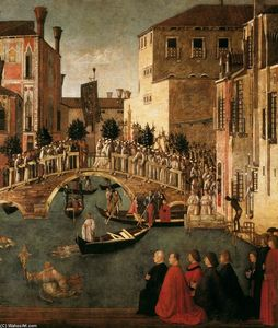 Gentile Bellini - Miracle of the Cross at the Bridge of San Lorenzo (detail)