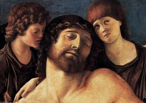 Giovanni Bellini - Dead Christ Supported by Two Angels (detail)