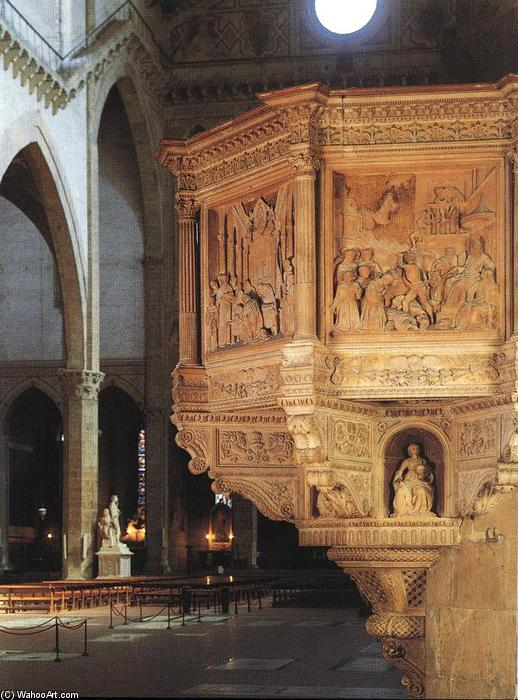 Pulpit, 1472 by Benedetto Da Maiano (1446-1497, Italy) | Museum Quality Reproductions | WahooArt.com