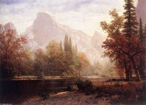 Albert Bierstadt - Yosemite Valley at Sunset