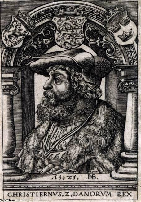 Order Reproductions | Christian II of Denmark, 1525 by Jacob Binck (1497-1568, Germany) | WahooArt.com