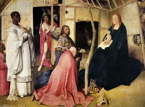 Hieronymus Bosch - Adoration of the Magi (detail)