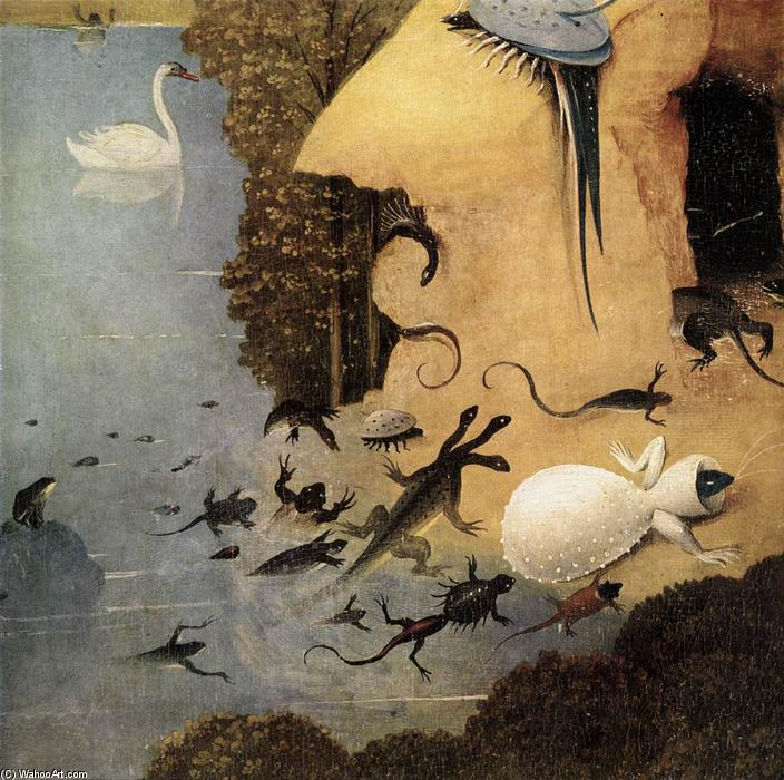 Triptych of garden of earthly delights detail 13 oil for Jardin des delices j bosch
